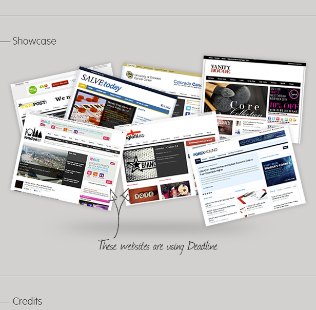 Showcase: These websites are using Deadline - Credits